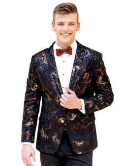 Ryan Ombre Floral tuxedo jacket by Marks of Distinction