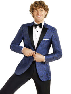 Blue Paisley Dinner Jacket