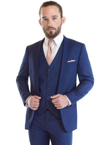 French Blue Wedding Suit