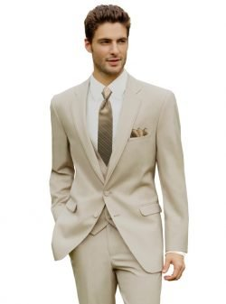 Tan Bartlett Wedding Suit
