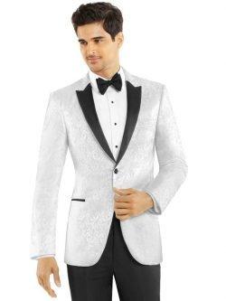 White Paisley Tuxedo